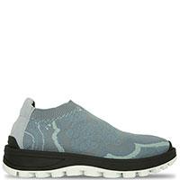 Голубые кроссовки Etro из текстиля, фото