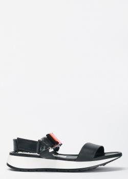 Черные сандалии Loriblu с декором-буквами, фото