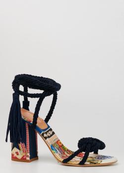 Босоножки Etro с веревочными ремешками, фото