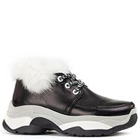 Черные кроссовки Genuin Vivier с мехом, фото