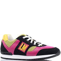 Женские кроссовки Love Moschino с розовыми вставками, фото