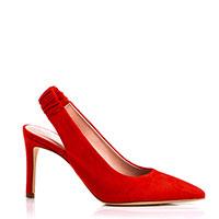 Туфли-слингбеки Evaluna красного цвета, фото