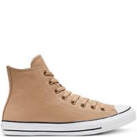 Женские кеды Converse Chuck Taylor All Star Mono Leather Hi из кожи бежевого цвета, фото