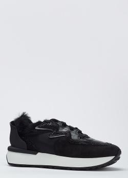 Черные кроссовки Le Silla на меху, фото