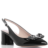 Лаковые туфли-слингбеки Musella с острым носком, фото