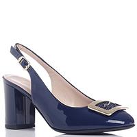 Темно-синие туфли Musella с декором на носке, фото