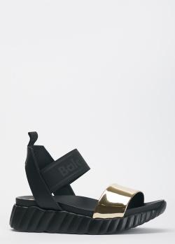 Черные сандалии Baldinini на толстой подошве, фото