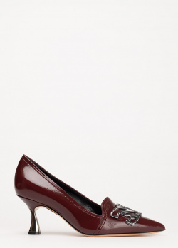 Лаковые туфли Casadei коричневого цвета, фото