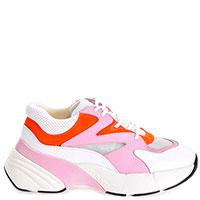 Кроссовки Pinko с деталями из замши контрастных цветов, фото