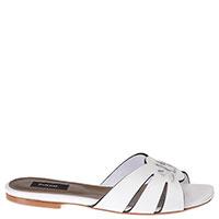 Белые шлепанцы Pinko на низком каблуке, фото