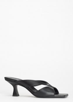 Черные мюли Vic Matie с квадратным носком, фото