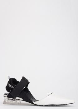 Белые туфли Ermanno Scervino с открытой пяткой, фото