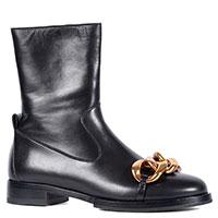 Ботинки N21 с золотистым декором на носке, фото