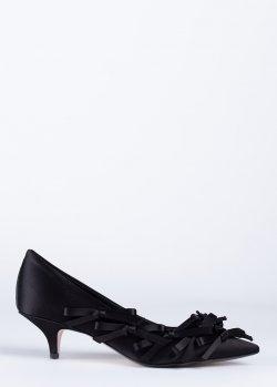Черные туфли N21 с бантами, фото