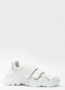 Белые кроссовки N21 на липучках, фото