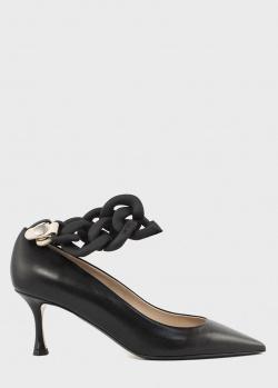 Туфли на шпильке N21 со съемной матовой цепочкой, фото