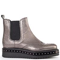 Серебристые ботинки-челси G.Wendel на толстой подошве, фото