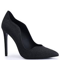 Черные туфли Genuin Vivier с глиттером, фото