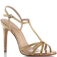 Золотистые босоножки Vicenza на высоком каблуке, фото