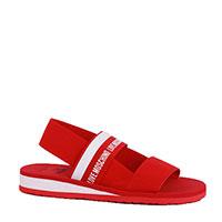 Текстильные сандалии Love Moschino красного цвета, фото