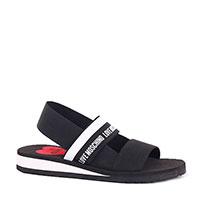 Черные сандалии Love Moschino на толстой подошве, фото