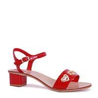 Лакированные босоножки Love Moschino красного цвета, фото