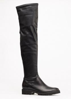 Черные ботфорты Genuin Vivier на толстой подошве, фото