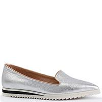 Туфли Deimille из кожи серебристого цвета, фото