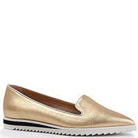 Золотистые лоферы Deimille с острыми носками, фото