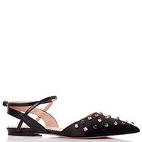 Черные туфли Red Valentino с камнями, фото