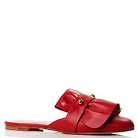 Мюли Red Valentino из кожи красного цвета, фото