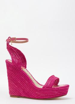 Плетеные босоножки Patrizia Pepe розового цвета, фото