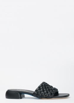 Черные мюли Loriblu из плетеной кожи, фото