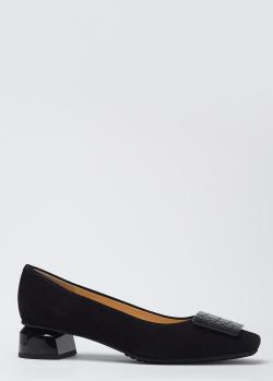 Замшевые женские туфли Brunate на низком каблуке, фото