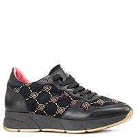 Черные кроссовки Blumarine с декором-стразами, фото