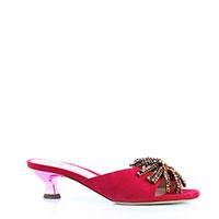 Розовые мюли Evaluna с декором на носке, фото