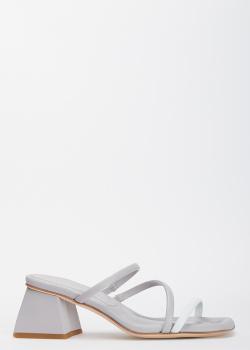 Серые мюли Vittorio Virgili на тонких ремешках, фото