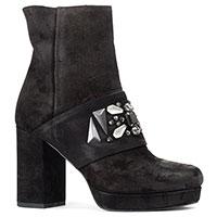 Ботинки Lorenzo Mari из черной замши с камнями, фото
