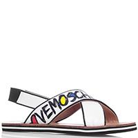 Белые сандалии Love Moschino с перекрестными ремешками, фото
