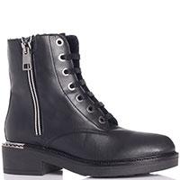 Ботинки Tine's с серебристым декором на каблуке, фото