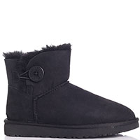 Замшевые ботинки Ugg черного цвета, фото