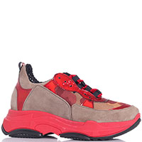 Красные кроссовки Nila&Nila на толстой подошве, фото