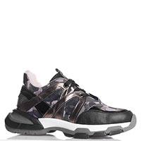 Черные кроссовки Nila&Nila на масcивной подошве с вставками, фото