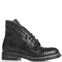 Черные ботинки Roberto Serpentini с вставками, фото