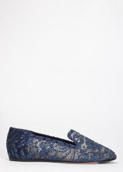Лоферы Le Silla с декором-стразами, фото