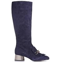 Замшевые сапоги Marino Fabiani с бахромой на носке, фото