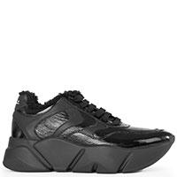 Черные кроссовки Voile Blanche с мехом, фото