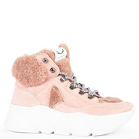Высокие кроссовки Voile Blanche розового цвета, фото