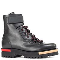 Ботинки Laura Bellariva из черной кожи на шнуровке, фото