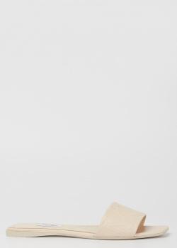 Шлепанцы молочного цвета Max Mara Musa с квадратным носком, фото